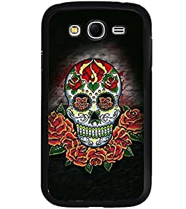 Printvisa Colourfull Floral Skeleton Back Case Cover for Samsung Galaxy Grand Neo::Samsung Galaxy Grand Neo i9060