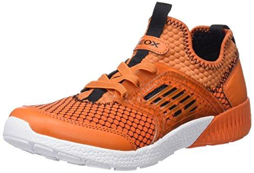 Geox Jungen J Sveth A Low-Top Sneaker, Orange (Orange), 27 EU