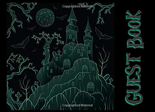 Guest Book: Not just for Halloween! Sign-in Guest Registry Book For Spooky Parties And Meetups (Spooky Events Books, Band 7) (Spiel Haunted Halloween Escape)