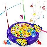 Peche a La Ligne Enfant Jeu Musical Jouet Jeux Educatif Poisson Canne à Pêche Jeux de Societes Fille Garcon Enfants 3 4 5 6 Ans