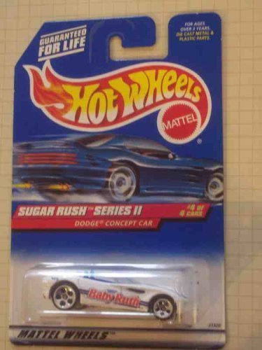 Sugar Rush 2 Series #4 Dodge Concept Car Metal Base WIth DCC And Concept On Base #972 Condition Mattel Hot Wheels 1:64 Scale by Hot Wheels