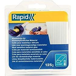 Rapid, 40107349, Bâtons de colle thermofusible, Multi-usages, Transparent, Ovale, Longueur 94mm, 125g
