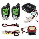 Easyguard EM211 - Sistema di allarme per moto, a 2 vie, con sensore di movimento, sensore di inclinazione, display LCD DC 12 V
