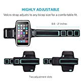 iPhone 6s Armband, Anker Sport Armband for iPhone 6 / 6s (4.7 inch) for Sports, Running, Jogging, Walking, Hiking, Workout and Exercise, Sweat-Free High-Quality Neoprene with Headphone and Key Slots and 2 Extra Cuttable Velcro Strips Bild 3