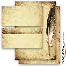 10 passende Briefumschl/äge DIN LANG ohne Fenster Motivpapier Komplett-Set GR/ÜNER PAPAGEI 10 Blatt Briefpapier 20-tlg