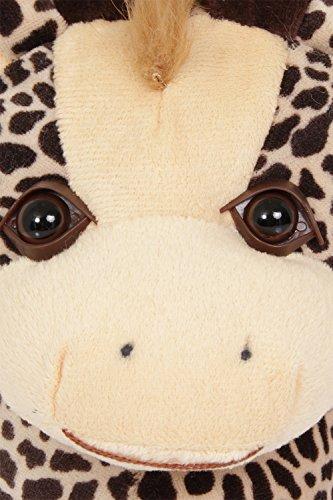 Unisex Tierhausschuhe aus Plüsch - Kinder & Erwachsene Giraffe