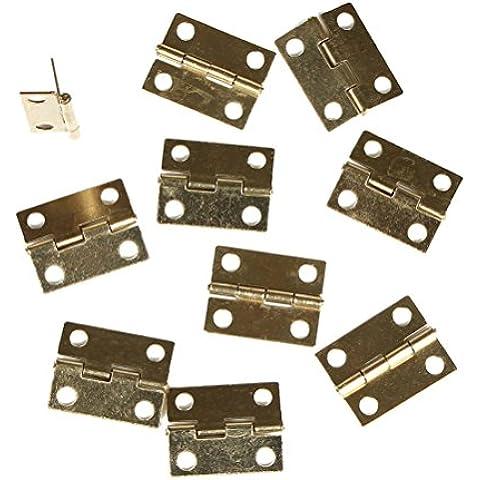 Cajón del gabinete bisagras LEORX Mini avión Conectores 30 piezas (Golden)