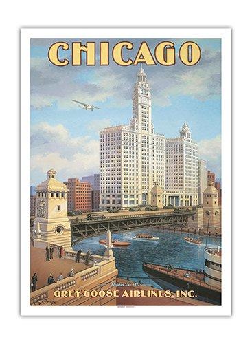 chicago-illinois-dusable-bridge-pont-basculant-de-michigan-avenue-grey-goose-airlines-affiche-ancien