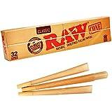 Raw Natural Unrefined Classic Kingsize Cones - 32 Cones Per Pack