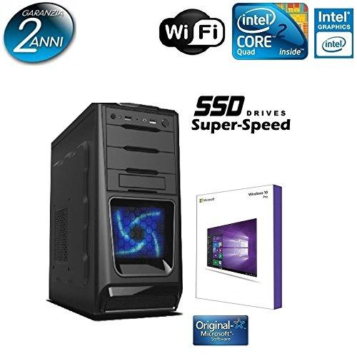 GAMMA PC SSD SUPER SPEED PC DESKTOP INTEL QUAD CORE ALANTIK BLU CASC02 CON LICENZA WINDOWS 10 PROFESSIONAL 64 BIT ORIGINALE /WIFI/SSD 120GB SATA III SOLIDO/RAM 8GB 1600MHZ/HDMI-DVI-VGA/USB 2.0 3.0/ DVD-RW, AUDIO VIDEO,LAN/ VENTOLE LED BLU/PC FISSO COMPLETO VELOCE PRONTO ALL'USO ,PER UFFICIO,CASA,GIOCHI, NETWORK ALANTIK CASC02