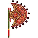 Home Decor Handicrafts | Home Decor | Home Decorative Items In Living Room, Bedroom | New Kutch Gujarati Art Work Ethnic Colorful Hand Fan