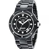 LTD WATCH - 31601 - Montre Mixte - Quartz Analogique - Bracelet Céramique Noir