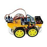Viewtek RT0009 Kit Voiture Intelligente Smart Car Arduino - Bluetooth & télécommande - Fonction Evitement d'obstacle Suivi de Ligne - avec Guide Images et avec 12 leçons/projets