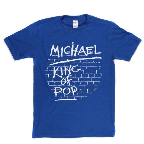 King of Pop Music Rock Genre Tee T-shirt Königsblau