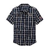 HARLEY-DAVIDSON Men's Multi-Patch Slim Fit Plaid Shirt - 99145-19VM