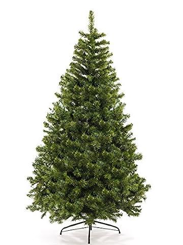 Künstlicher Weihnachtsbaum Christbaum künstlich 120 - 210 cm Tannenbaum Lichterbaum Kunstbaum Tanne ( NATUR-GRÜN 180 cm)