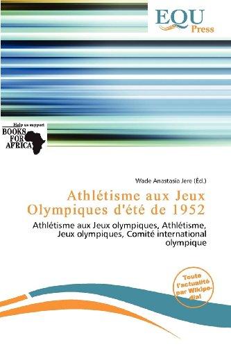 Athl Tisme Aux Jeux Olympiques D' T de 1952