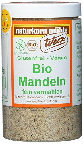 Werz Mandeln gemahlen glutenfrei, 1er Pack (1 x 200 g Dose) - Bio