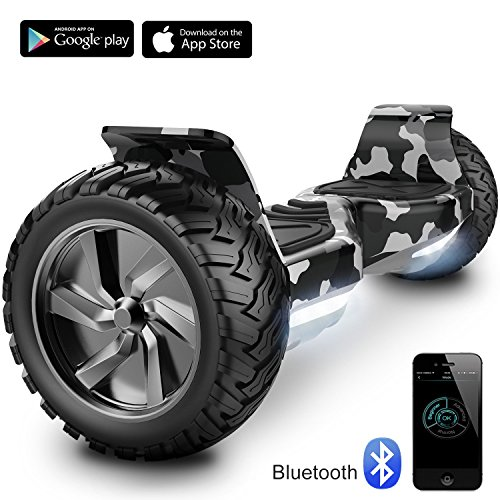 "Cool&Fun 8.5"" Balance Board Scooter Patinete Hummer SUV 700W Eléctrico Bluetooth App Self Balancing (Army Green)"