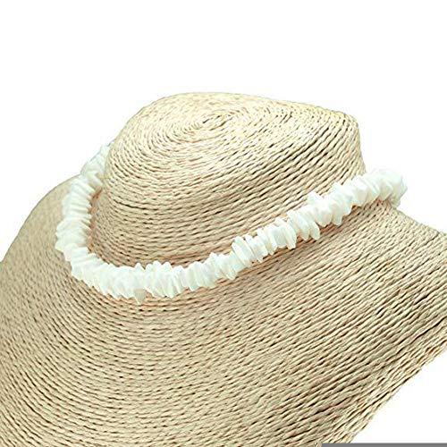 bulrusely Halskette Muschel für Frauen verstellbar Meer Anhänger Muschel Kordel Halskette Schmuck Hawaii Armbänder Kette für Mädchen Männer Frauen Jungen, weiß, 45cm / 17inch - Für Halskette Hawaii Männer