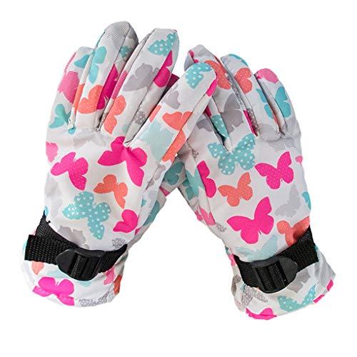 Flushzing 1 Paar Winter-Kinder Outdoor-Ski-Handschuhe wasserdicht Winddicht warme Handschuhe Anti-Rutsch-Reithandschuhe