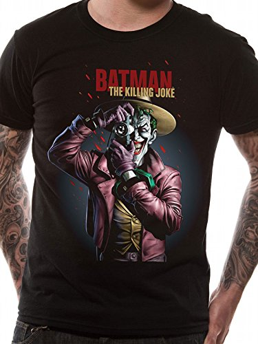 DC Comics Hombre Joker Killing Joke Camiseta Negro Small