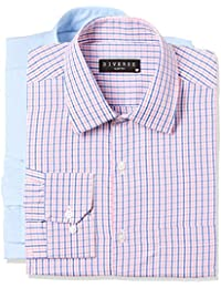 Diverse Men's Checkered Slim Fit Formal Shirt Men's Checkered Slim Fit Formal Shirt