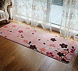 Love QAZ Schlafzimmer Rosa Kirschblüten Wohnzimmer Teppich Bett Decke Bett Decke schwebende Fenster und Decke Waschbar Keine Staubentwicklung Teppiche (Farbe: #4)