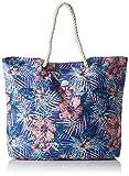 Roxy Printed Tropical Vibe Borsa da Spiaggia Stampata, Donna, Royal Blue Beyond Love, Taglia Unica
