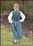 Battle Merchant Mittelalterliches Bauernkleid aus Baumwolle, grün - Mittelalterkleid - Larpkleid Größe M