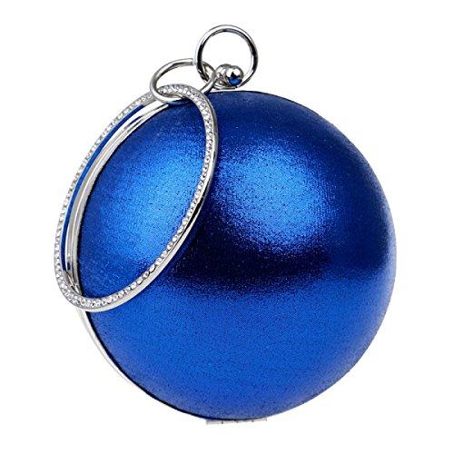 Abbigliamento Casual Rotondo Spalla Sacchetto Del Messaggero Bello Borse Le Donne Il Sacchetto Del Pranzo Blue