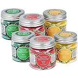 com-four® 6-teiliges Duftkerzen-Set in verschiedenen Duftrichtungen, Deko Kerze im Glas (06-teilig - Duftkerzen)