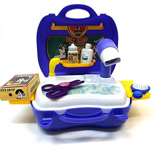 Brigamo 561 – Spielzeug Frisiersalon für Kuscheltiere – To go Spielzeugset Frisiertisch - 3