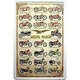 Moto Guzzi Modelo palé Reklame Diseño Cartel de chapa Réplica
