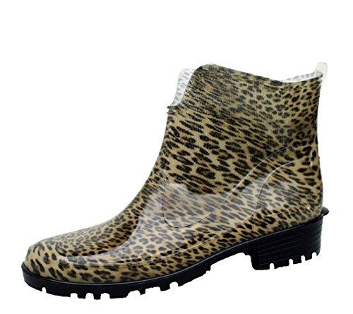 Bockstiegel Stivali di gomma da donna Hilde, Couleur:léopard;Taille:36 - Leopardato