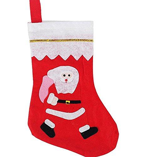 YUYU Calze di natale-oro e bianco sacchetti regalo di Natale erano goodie bags (Sacchetti Di Favore Di Plastica)