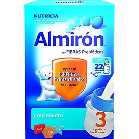 Almirón Leche en polvo 12m+ - Paquete de 2 x 400 gr - Total: 800 gr