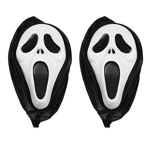 COM-FOUR® 2x Scream Maske, Screaming Ghost Maske Ghostface