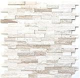 Mosaik Fliese selbstklebend Marmor Naturstein grauweiß Naturstein white wood für BODEN WAND BAD WC DUSCHE KÜCHE FLIESENSPIEGEL THEKENVERKLEIDUNG BADEWANNENVERKLEIDUNG Mosaikmatte Mosaikplatte