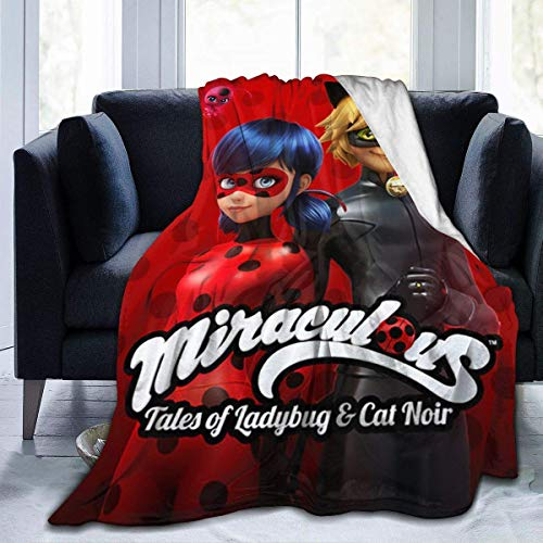 Fghgfdhjj Mantas Cama Tales Ladybug Cat Noir Ultra-Soft