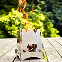 Generic al aire libre madera estufa portátil Peso Ligero Estufa De Camping de acero inoxidable para
