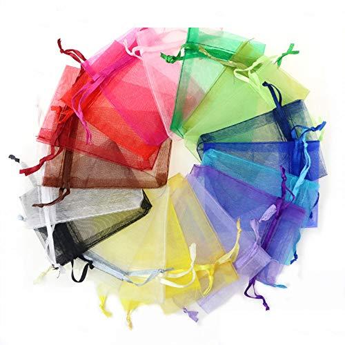 Changanfengkuo Geschenktüte - Schnee Garn Perlen Garn Tasche Schmuck Handtasche, Wedding Süßigkeit-Beutel-Taschen-Cosmetic Geschenk Test Yarn Bag Multicolor (100 Pro Packung) schöne Taschen