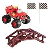 Blaze 302045 - Kit Decorativo per Torta, in plastica, 5 x 5 x 9 cm, Colore: Rosso