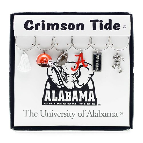 Wein Dinge University of Alabama Painted Glaswaren Charms