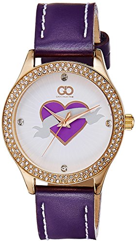 Gio Collection Analog Purple Dial Women's Watch - AD-0056-B image