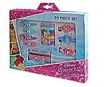 Disney Princess 20 Piece Hair Accessory Set Includes Bobbles & Clips 3+