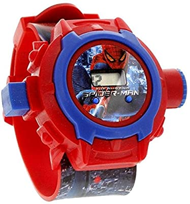 S S Traders Spiderman Unique 24 Images Projector Digital Toy Watch for Kids