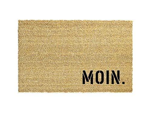 MOIN. Kokos-Fußmatte   Fußabtreter   Türvorleger   Teppich   40 x 60 cm   mit Spruch   Geschenk   Hochzeit   Geburtstag   Einzug