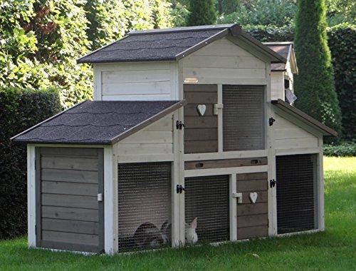 Animalhouseshop.de Kaninchenstall Annemieke mit Auslauf 175x70x110cm - 8