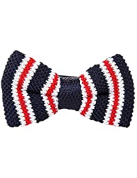 Robelli Men's Knitted Adjustable Pre-Tied Bow Tie - UK Seller